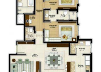 Apartamento Tipo 01 - Imperium Palace