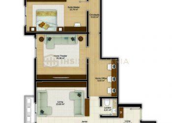 Apartamento Tipo 02 Diferenciado - Imperium Palace