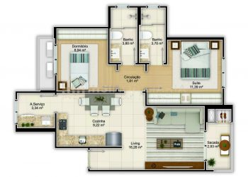 Apartamento Tipo 03 - Ferrara