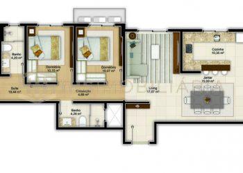 Apartamento Tipo 03 - Imperium Palace